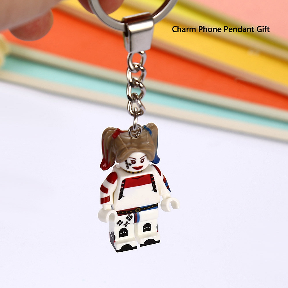 Alloy + Plastic Key Chain Hanging Pendant Clown Style Keyring Movie Product for Decoration COLORMIX