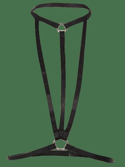 Harness Bra Bondage Geometric Body Jewelry BLACK