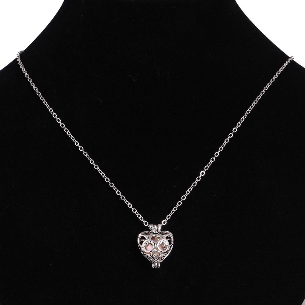 Women Stainless Steel Cube Pearl Necklace Charm Womens Beauty Jewelry Durable Necklace Gift #008