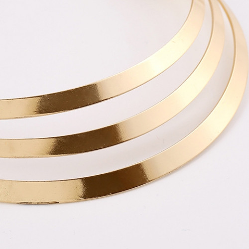 Punk Metallic Curved Mirror Mottle Necklace GOLDEN