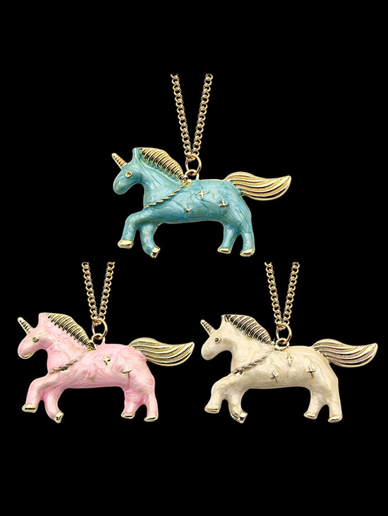 Unicorn Star Collarbone Necklace PINK
