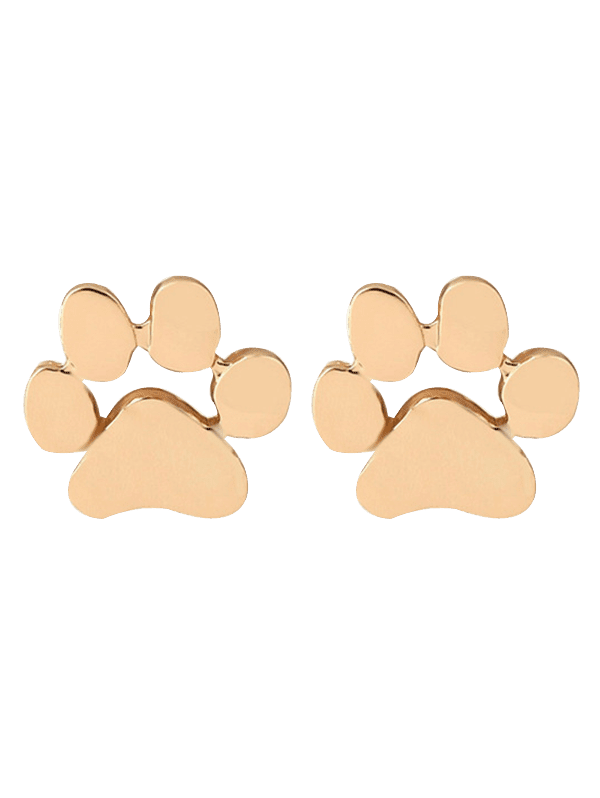 Cute Puppy Claw Tiny Stud Earrings GOLDEN
