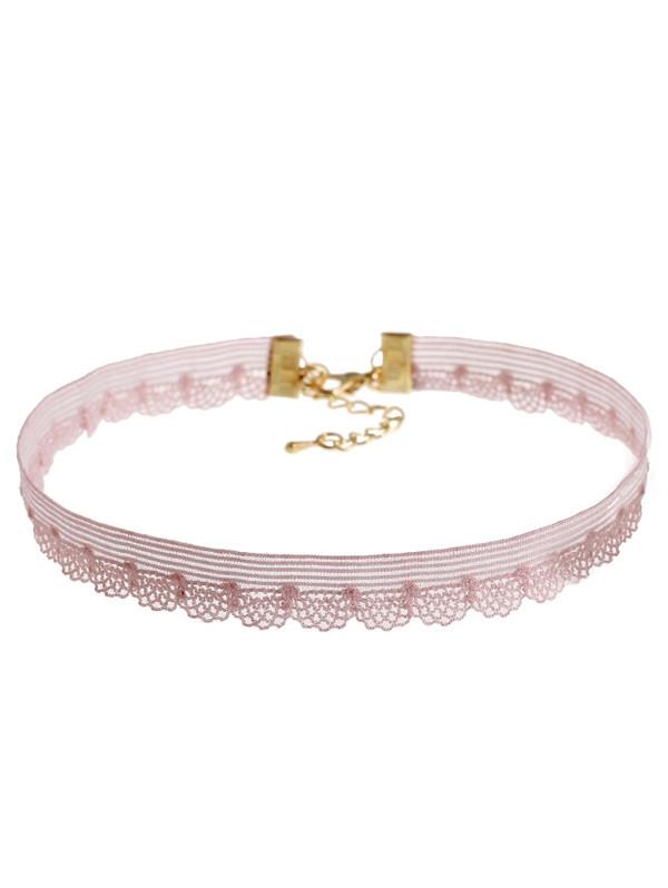 Hollow Out Lace Choker Necklace Set COLORMIX