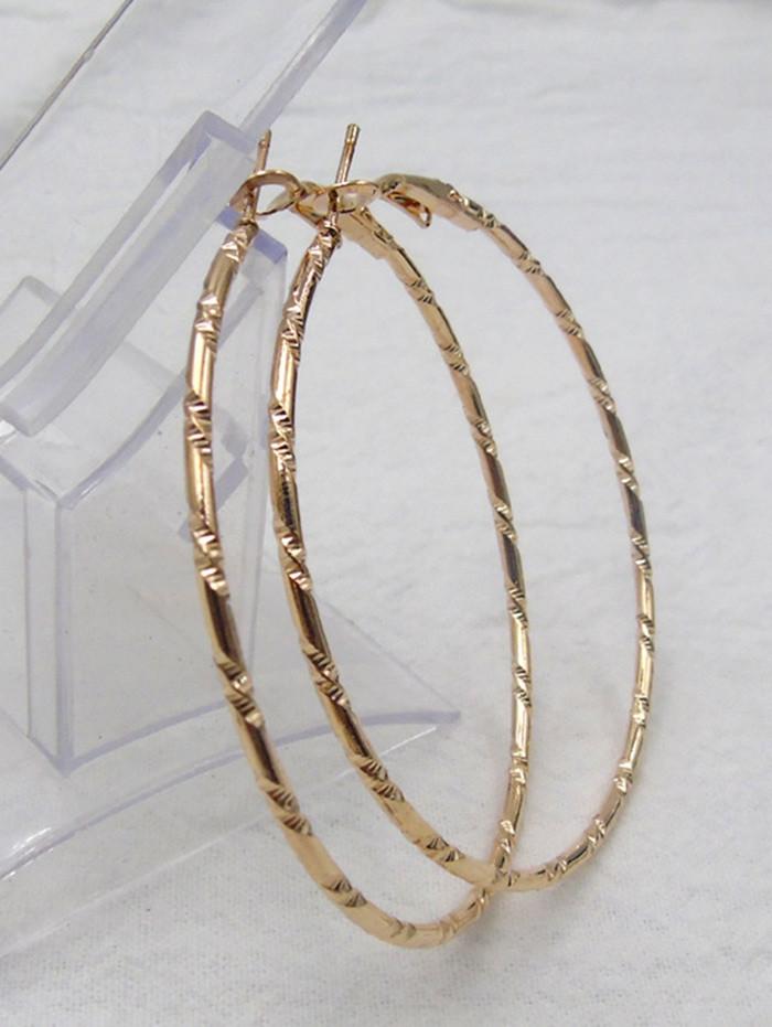 Big Bamboo Hoop Earrings GOLDEN