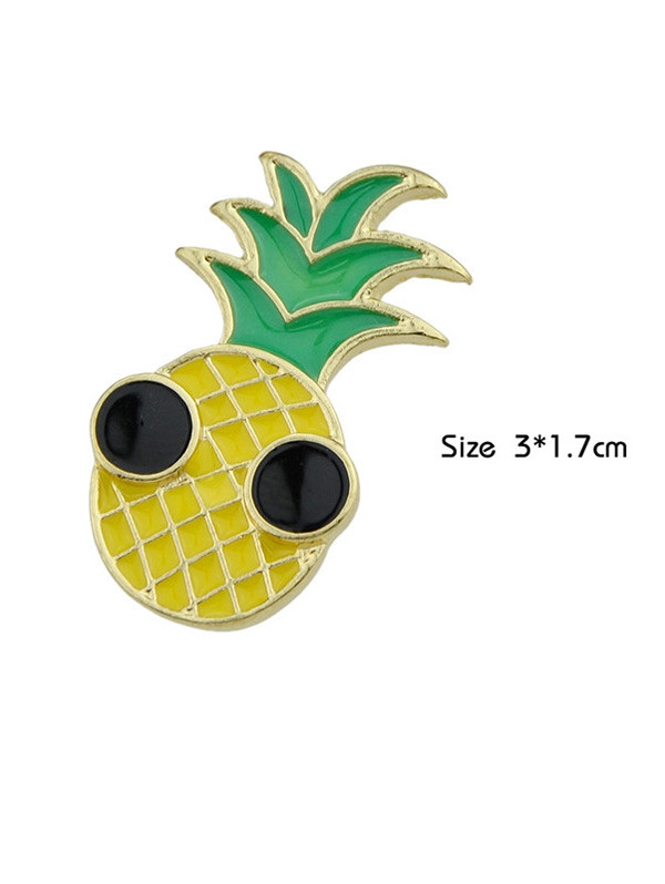 Funny Fruit Pineapple Brooch YELLOW