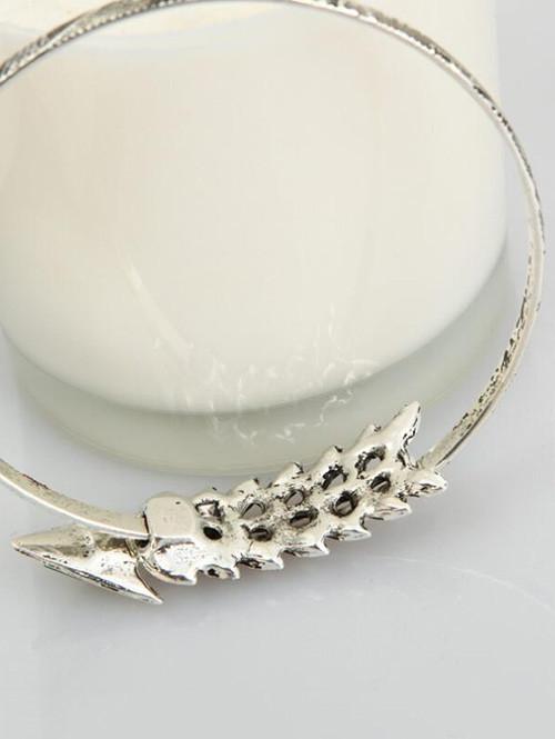Vintage Alloy Arrow Arm Bracelet SILVER