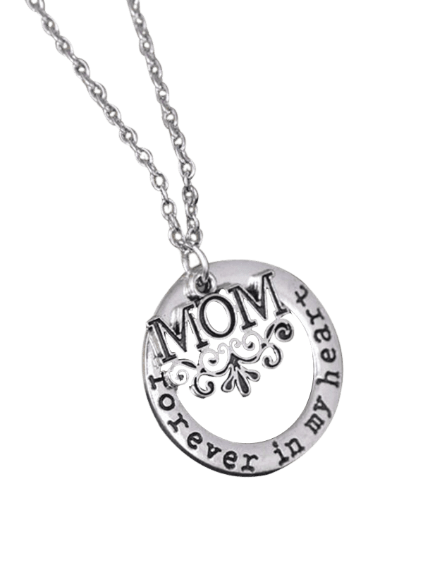 Circle Engraved Forever in Heart Family Necklace PATTERN A
