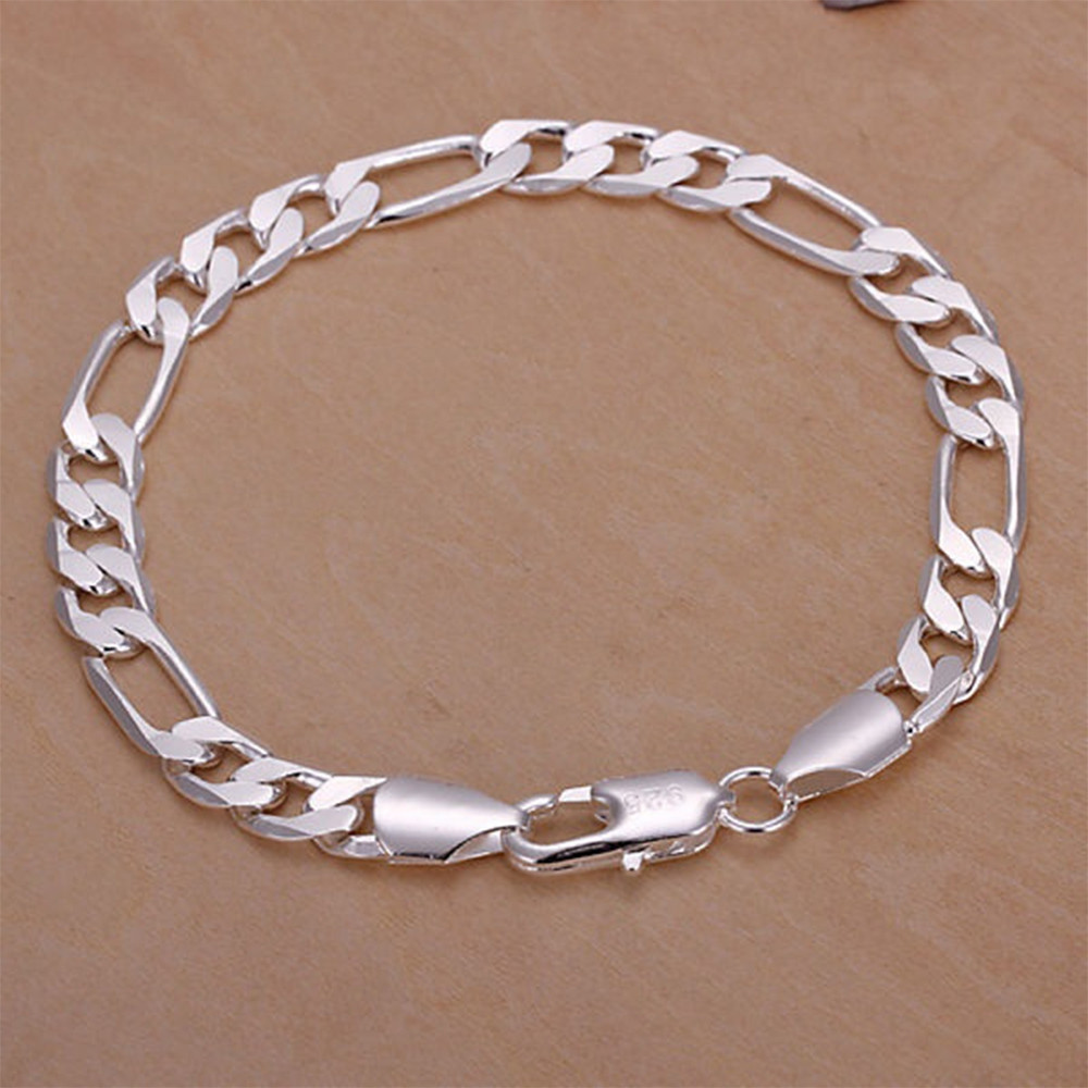 New 925 Sterling silver bangle Bracelets Party Gift Fashion Jewelry SILVER