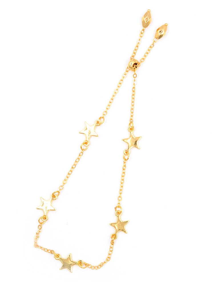 Alloy Star Chain Bracelet  GOLD
