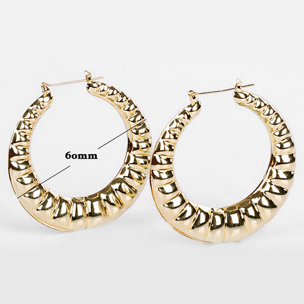 Big Round Circle Shape Hoop Earrings GOLD