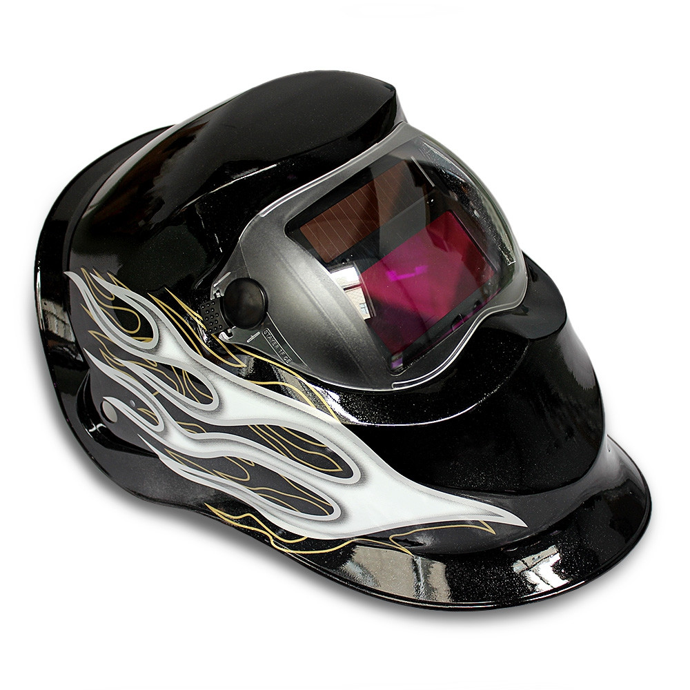 Honeysuckle Pattern Automatic Variable Light Electric Welding Protective Mask
