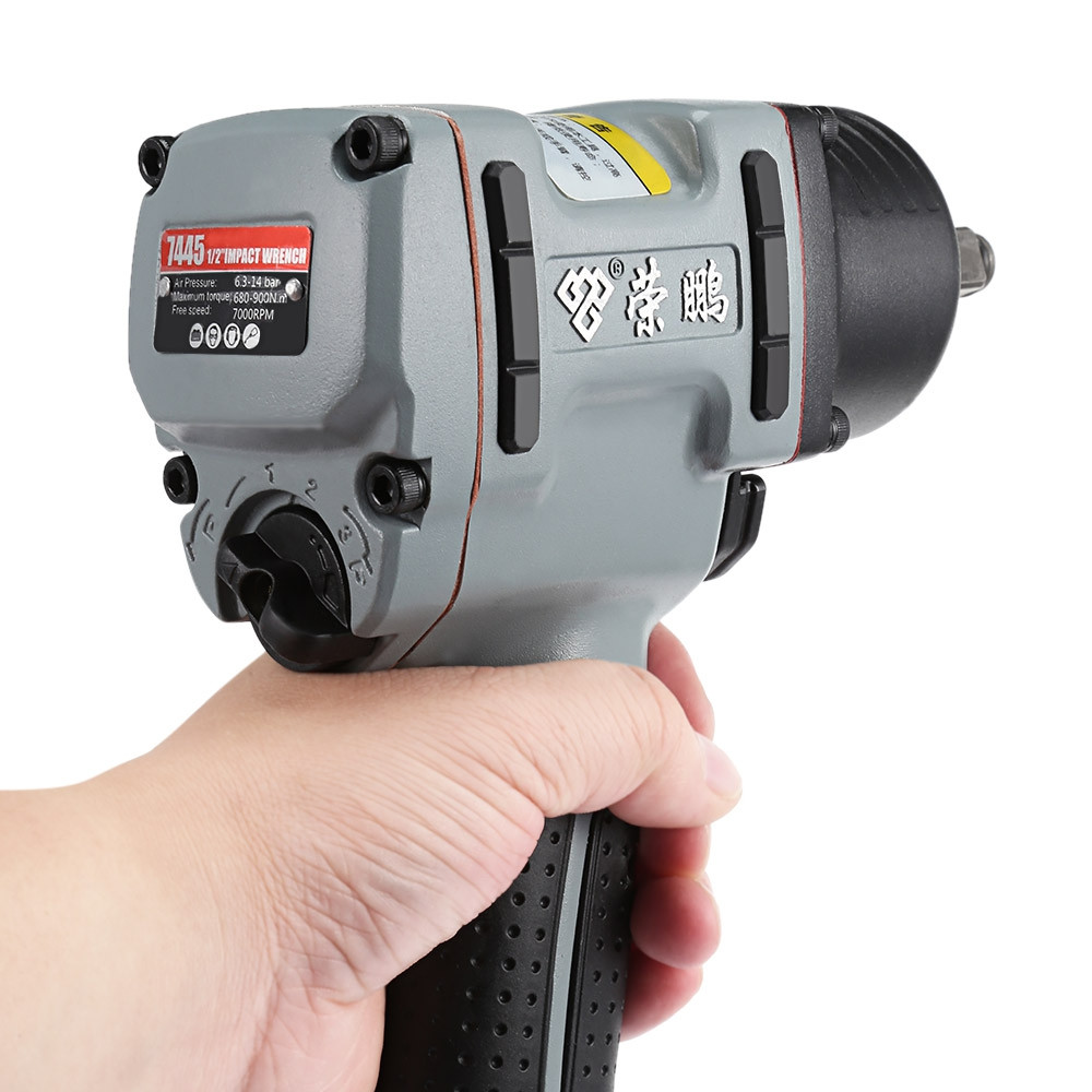 Rongpeng Air Impact Wrench Pneumatic Socket Set Compact Gun