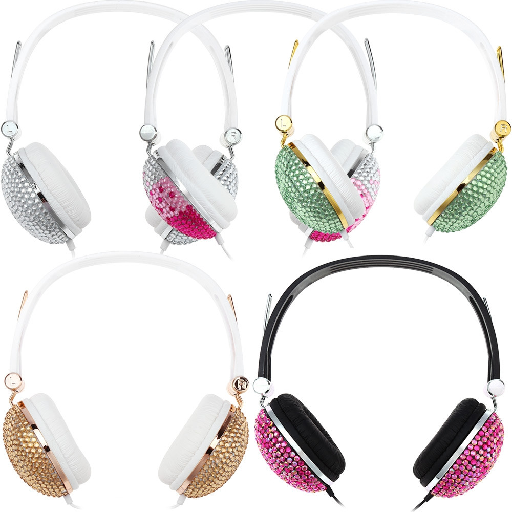 Artificial Crystal Rhinestone Bling Earphones with Anti-noise Music Function