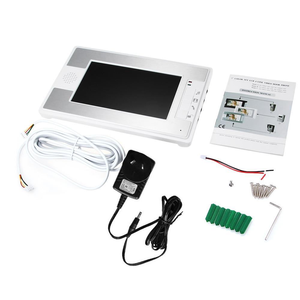 SY812MKW12 7 Inch TFT Color LCD Screen Night Vision Video Door Phone Intercom Doorbell