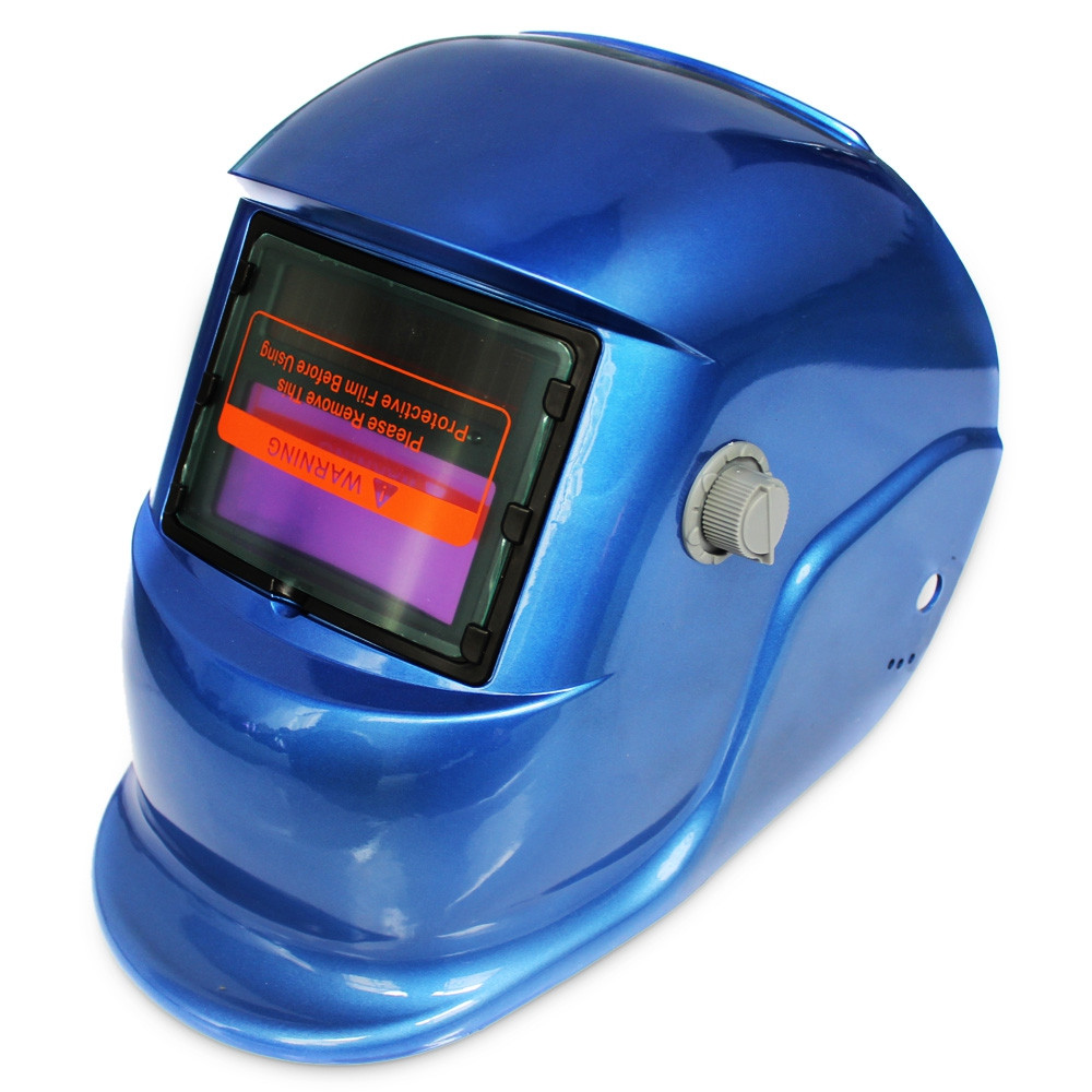 Solar Energy Automatic Changeable Light Electric Welding Protective Helmet with Solid Color Type