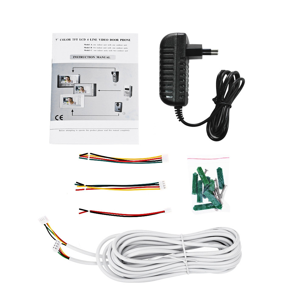 SY801M11 7 Inches TFT Screen Video Interphone Infrared Night Vision Doorbell Intercom
