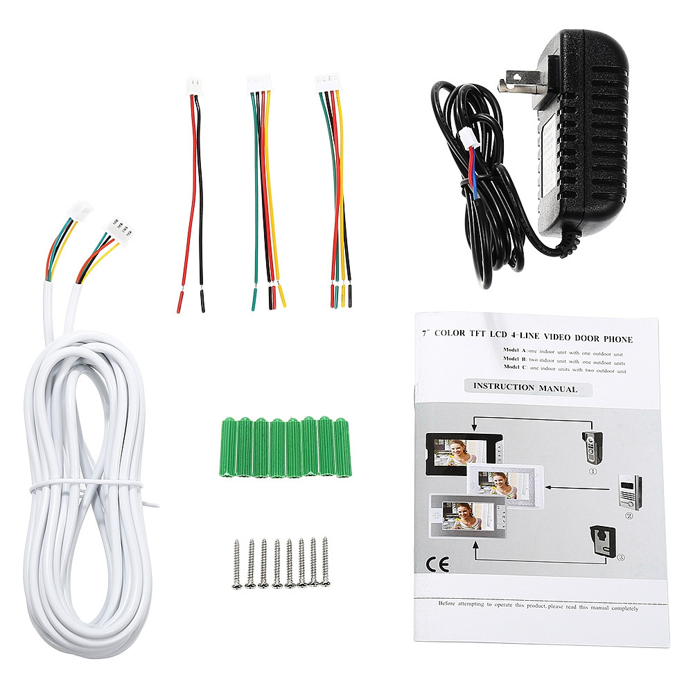 Smartlife SY819FA11 7 inch Wired Video Intercom Kit