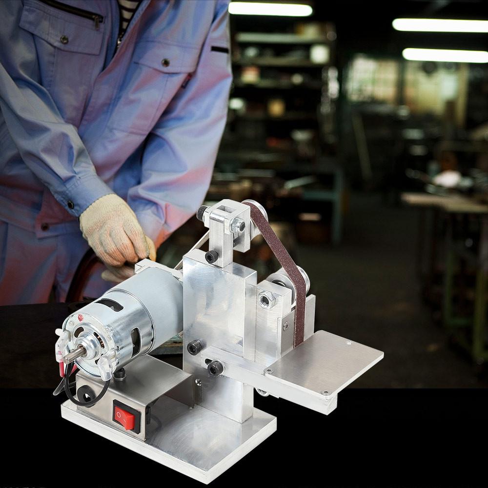 DIY Mini Belt Sander Bench Mount Grinder Polishing Grinding Machine Buffer