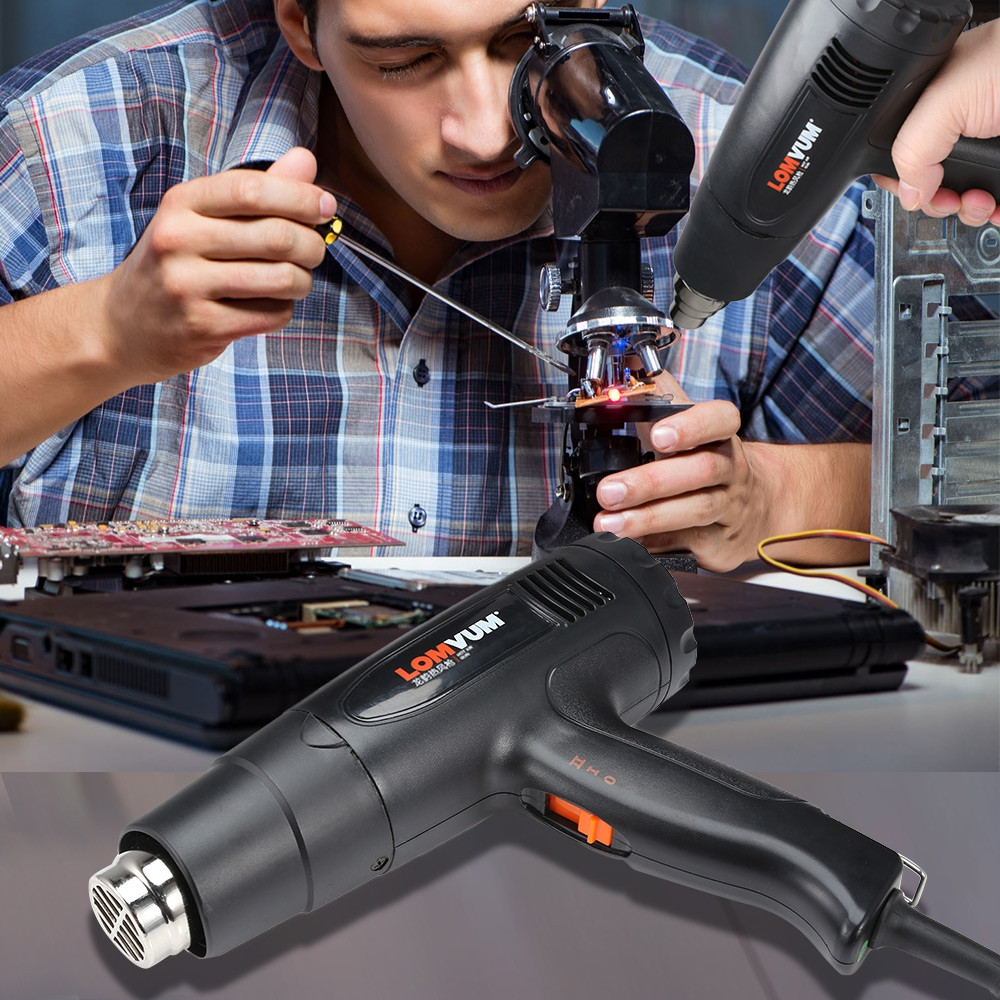 Lomvum LY180C 1800W Adjustable Temperature Electric Hot Air Heat Gun