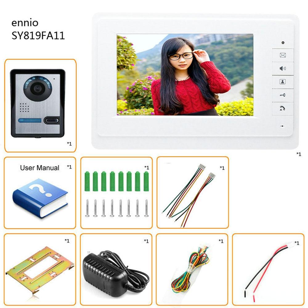 SY819FA11 7 Inches HD Doorbell Camera Video Intercom Door Phone System
