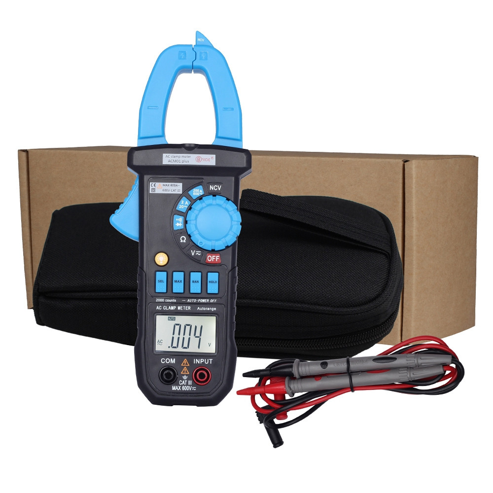 BSIDE ACM01 Plus 600A Digital Auto Range AC / DC Voltage NVC Clamp Meter Tester
