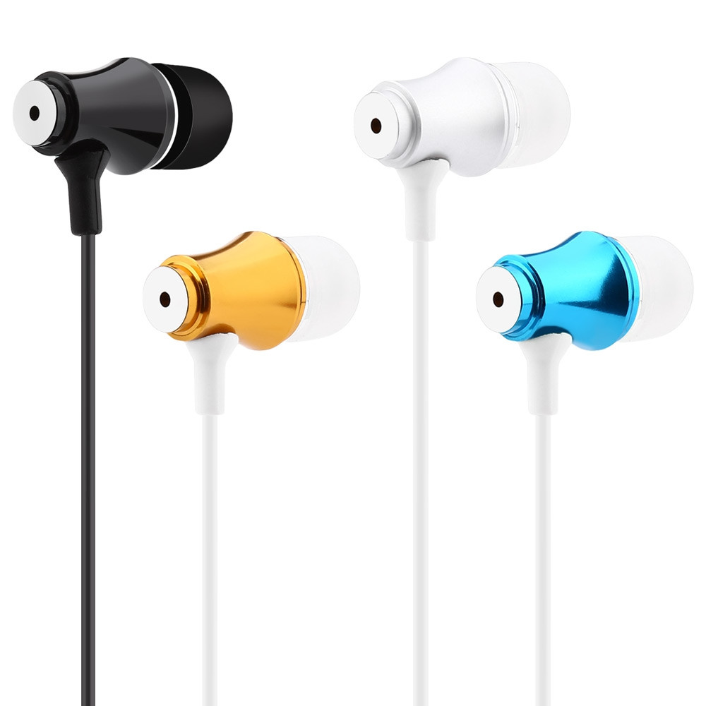 3.5MM Plug Super Bass Music In-ear Stereo Drive-by-wire Earphones Headphones