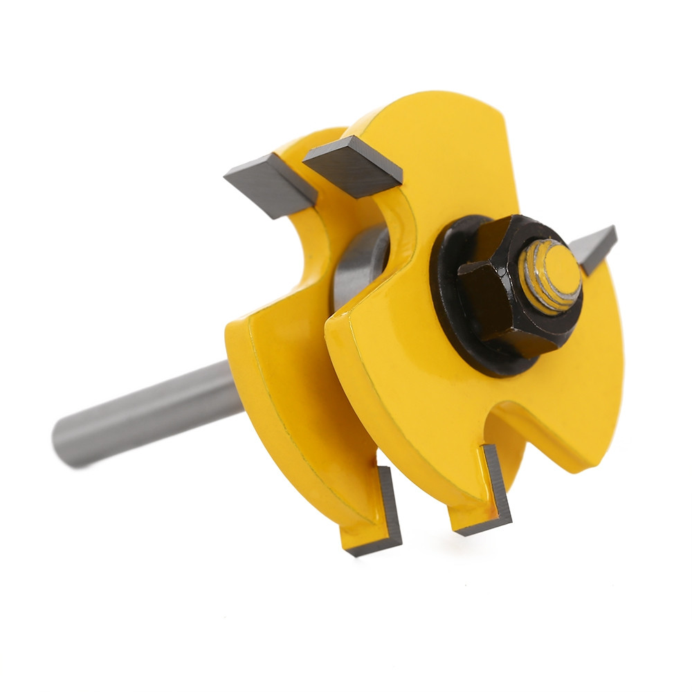 T Type Alloy Woodworking Milling Cutter Three-teeth Tool