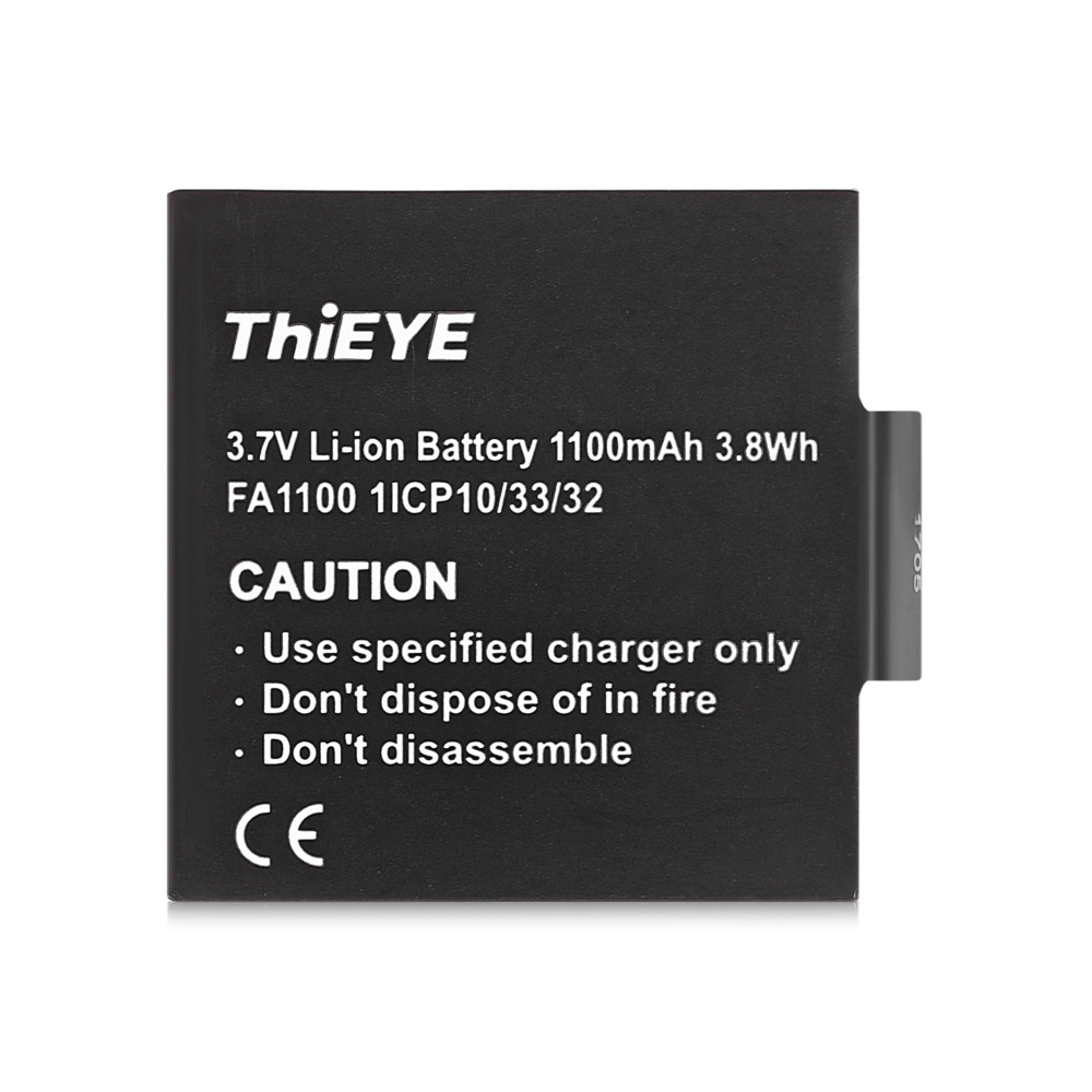 ThiEYE Dual Battery Charger with Two 1100mAh Batteries for T5e / T5 Action Camera