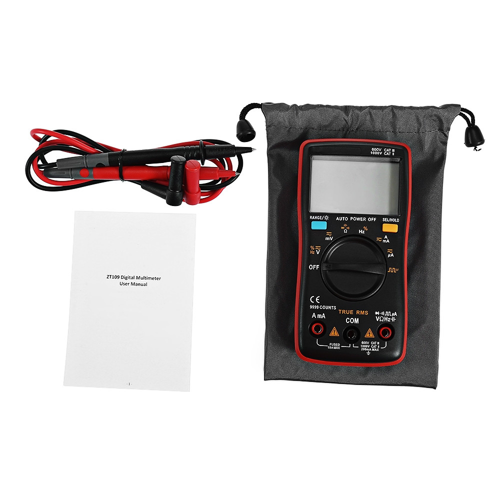 Bside ZT109 9999 Counts Display Square Wave Output Digital Multimeter