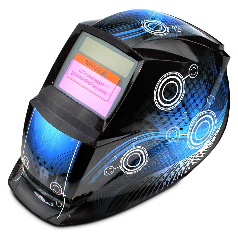 Solar Energy Automatic Changeable Light Electric Welding Protective Helmet with Line Pattern