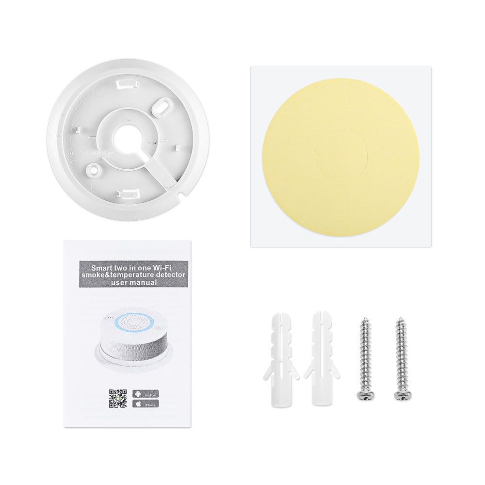 PA - 438W WiFi Wireless 2 in 1 Smoke and Temperature Detector