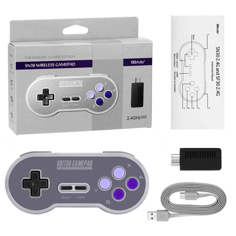 8Bitdo SN30 Gamepad Game Controller Wireless Joystick