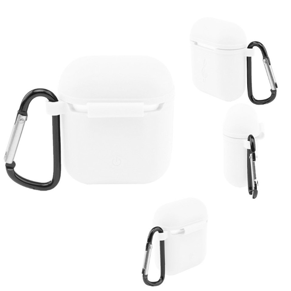 4 in 1 Airpods Case, Airpods Strap, Airpods Ear Hooks, Airpods Silicone Protective Cover with Earphone Sports Anti-Lost