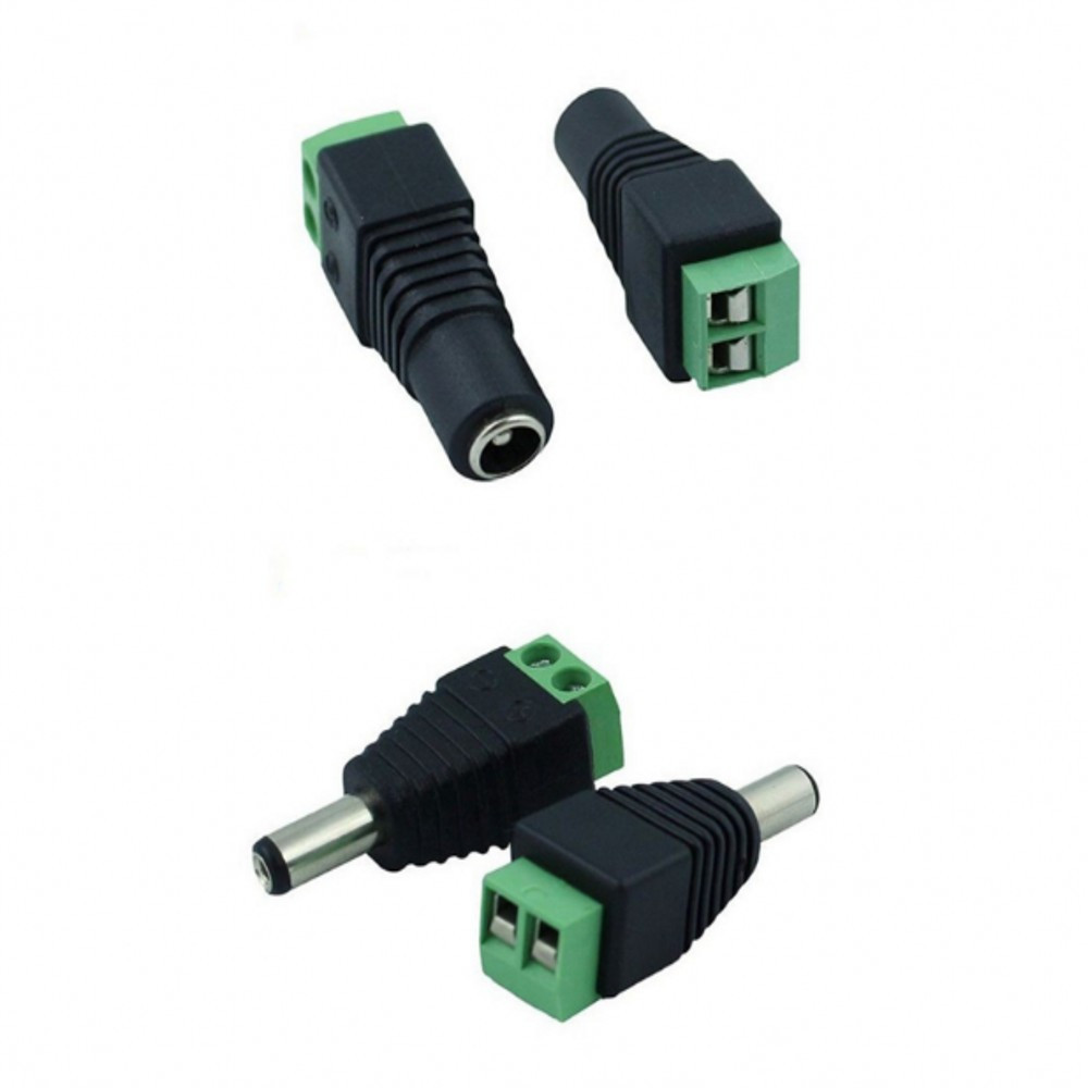 10 Pack 2.1mm x 5.5mm DC Plug for Led Strip CCTV Camera 5 Male and 5 Female