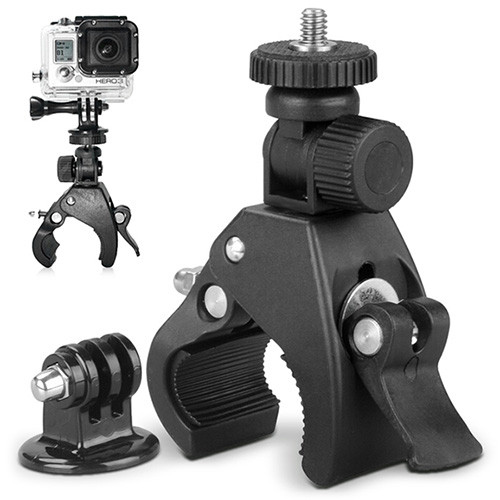 Bicycle / Motorcycle Handlebar Camera Mount Holder Tripod Adapter for GoPro