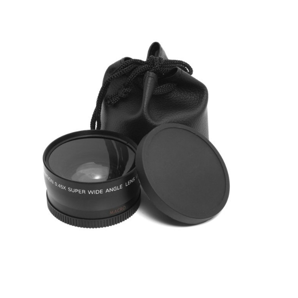 Macro Lens And Wide-Angle Lens 0.45x 58mm + Lens Pouch