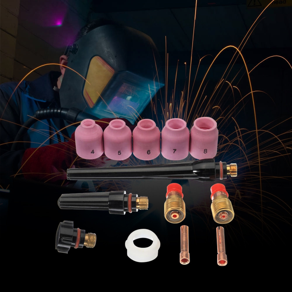 13pcs TIG Welding Gun Accessories Nozzle Stubby Gas Lens for WP - 17 / 18 / 26
