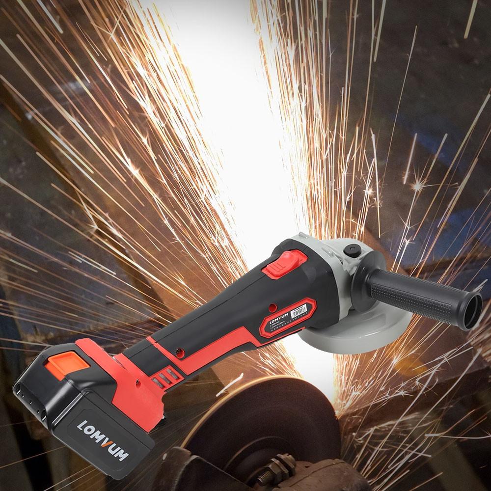 Lomvum 21V Multifunctional Brushless Angle Grinder Power Tool