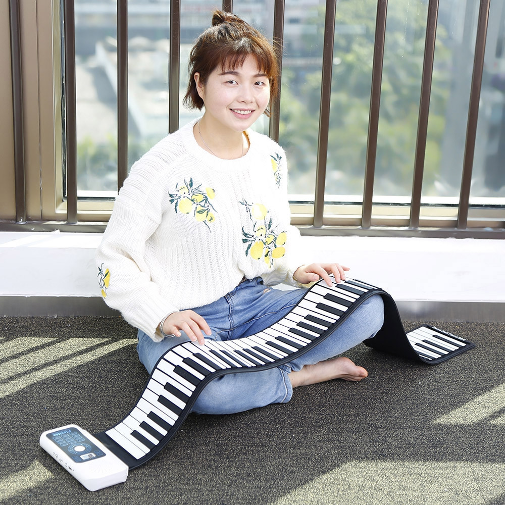 88 Keys Hand Roll Up Piano with MIDI Electronic Keyboard
