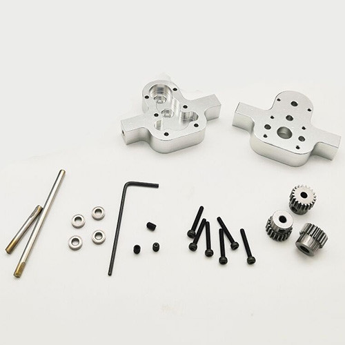 Full Metal Transfer Case with Motor for WPL JJRC 4WD 6WD RC Truck Car Model
