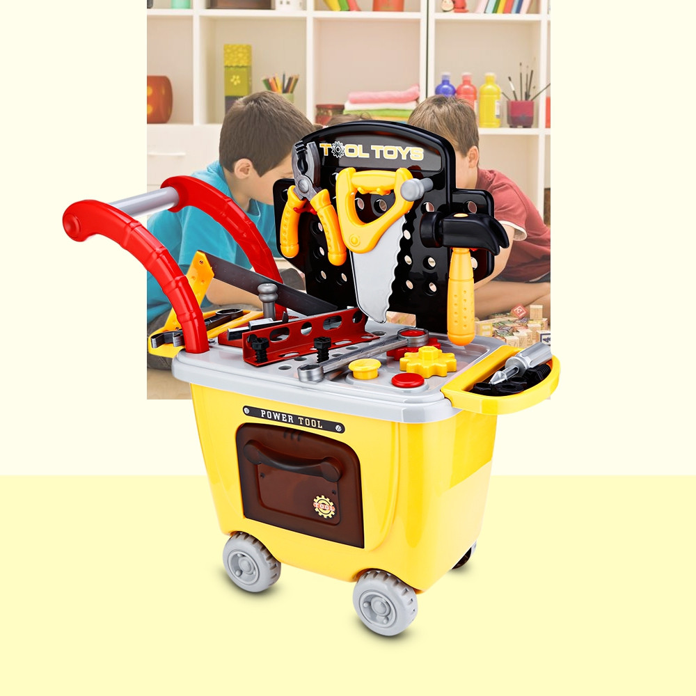 Ranxian RX1900-9 27pcs Kids Repair Tools Trolley Toys