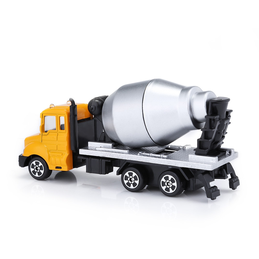 Kids Alloy 1:64 Scale Concrete Mixer Truck Emulation Model Toy Gift
