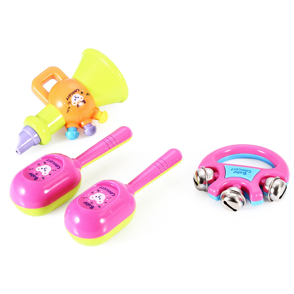 Kids Drum Rattles Musical Game Instrument Assembly Intelligence Development Toy Set