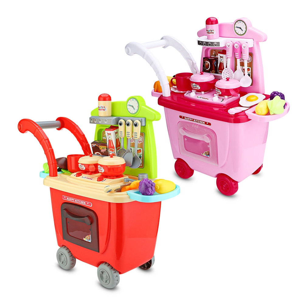 Ranxian RX1900-8 30pcs Kids Trolley Toys Kitchen Theme