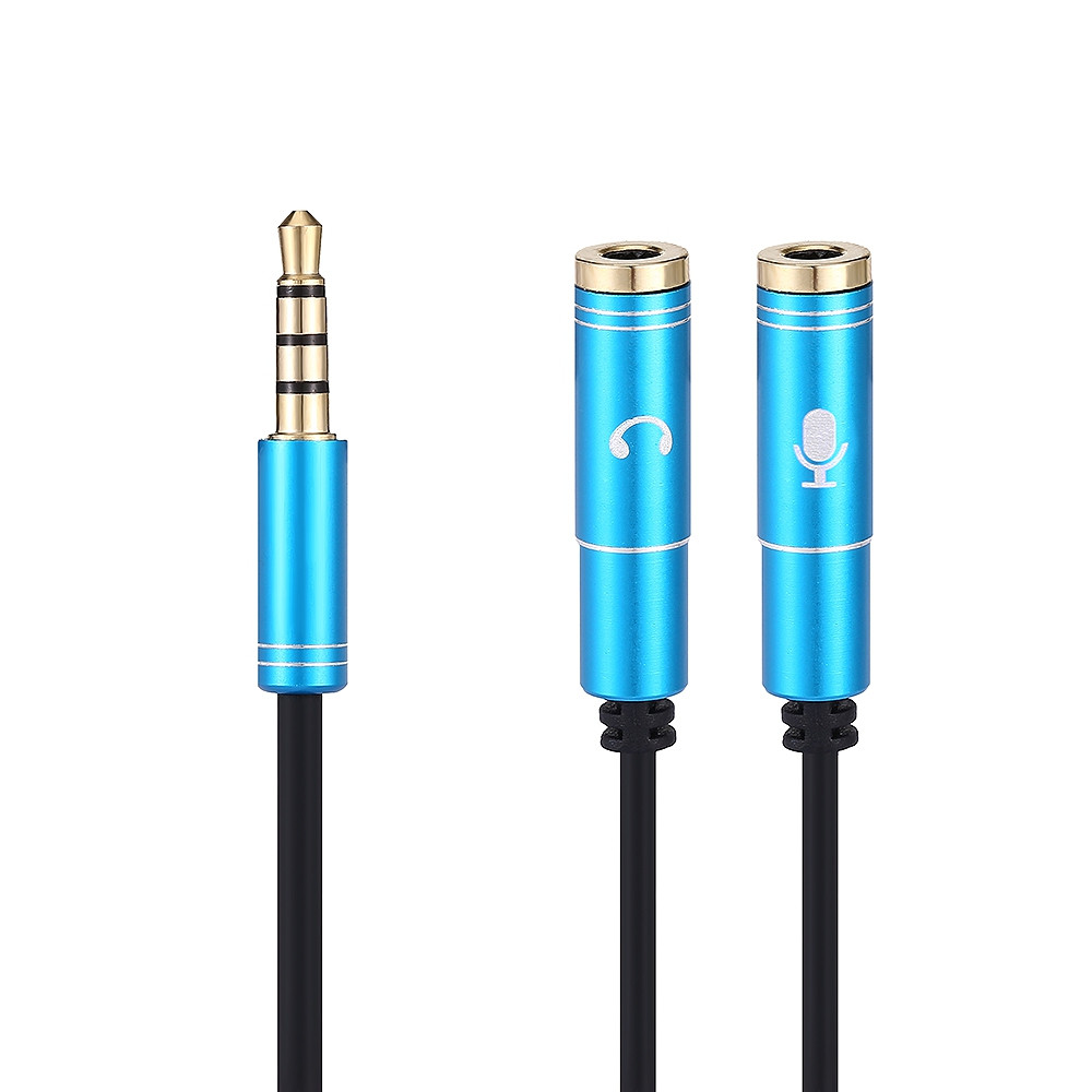 35cm Headset Adapter Y Splitter 3.5mm Jack Cable with Separate Mic and Audio Headphone Connector Mutual Converters