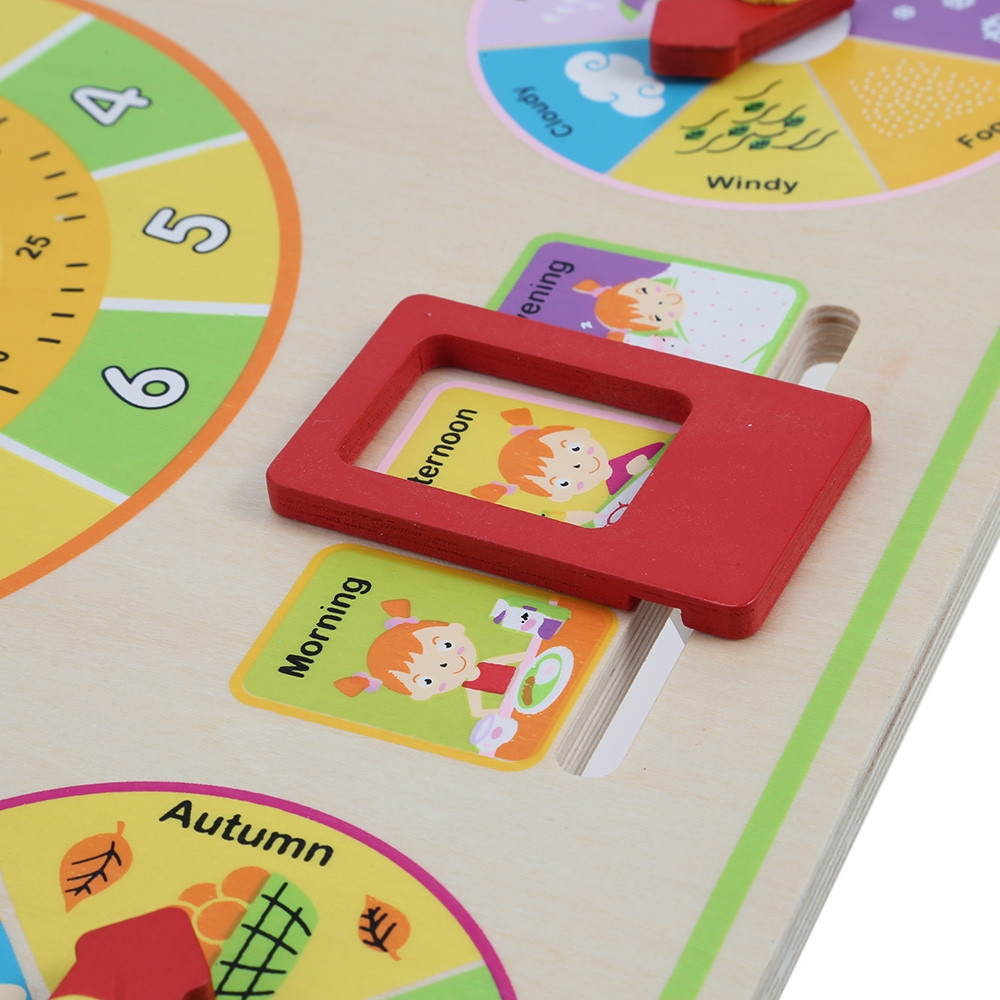 Multifunctional Clock Calendar Board Cognitive Training Toy