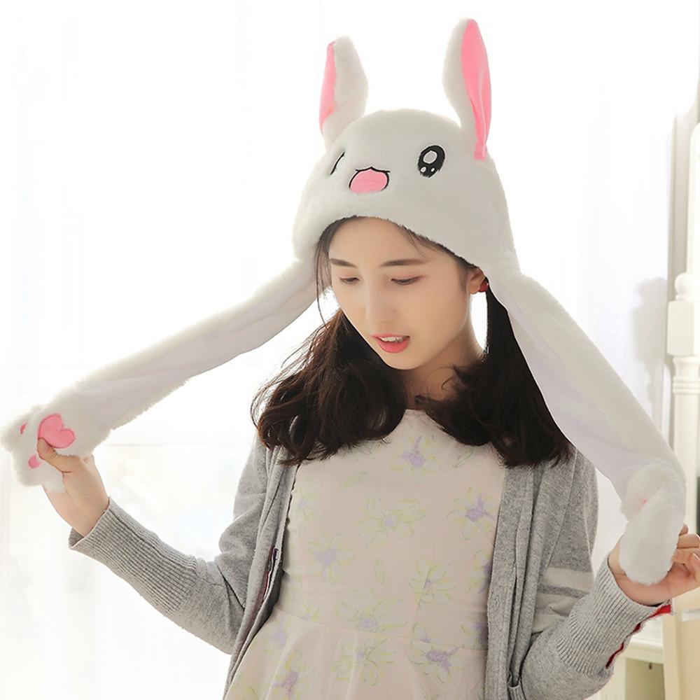 Creative Rabbit Hat Airbag Cap Stuffed Toy