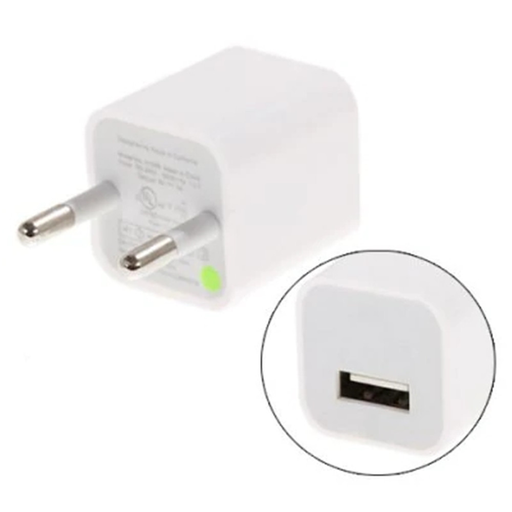 EU Plug USB Charger AC Adapter