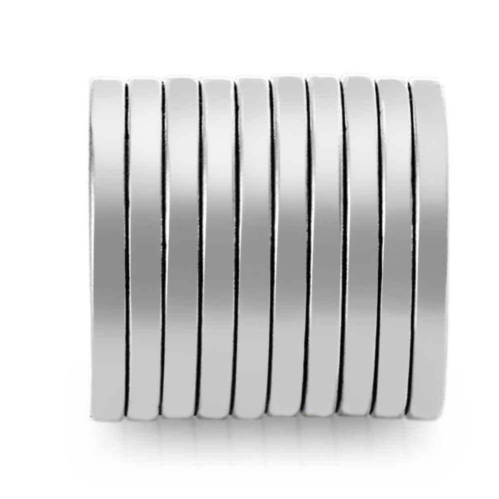 10pcs 20 x 20 x 2mm N35 Strong NdFeB Round Magnet Birthday DIY Intelligent Gift