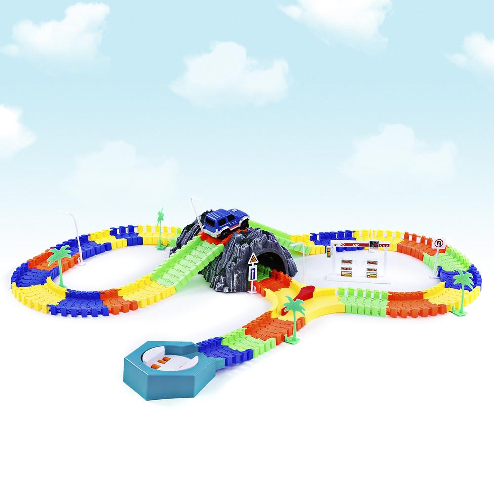 144pcs NO.248 Racing Track DIY Assembly Set Toy
